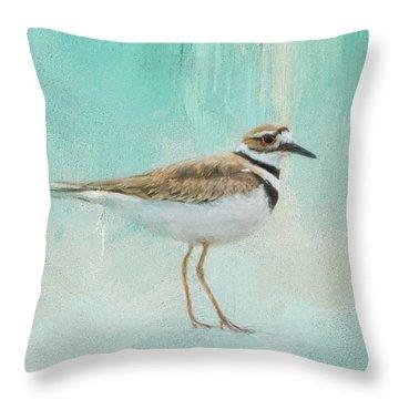 Little Seaside Friend Throw Pillow by Jai Johnson