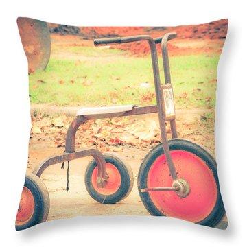 Little Wheels Throw Pillow by Toni Hopper