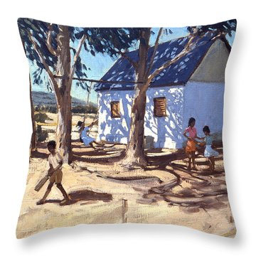 Little White House Karoo South Africa Throw Pillow by Andrew Macara