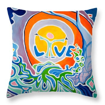 Live Love Throw Pillow by Jaison Cianelli