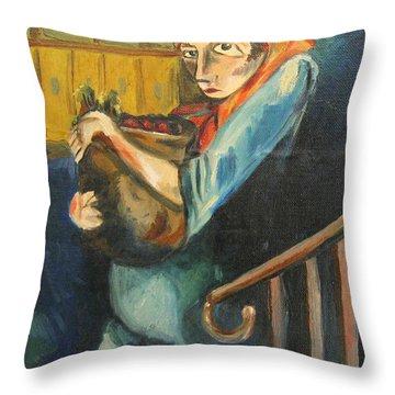 Lizzie Meyer Throw Pillow by John Keaton