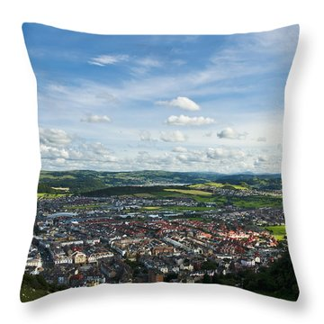 Llandudno View Throw Pillow by Svetlana Sewell