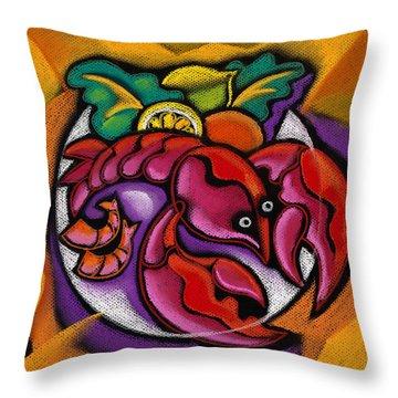 Lobster Throw Pillow by Leon Zernitsky