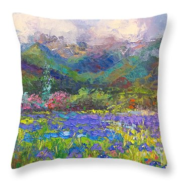 Local Color Throw Pillow by Talya Johnson