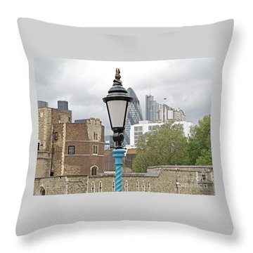 London Old And New Throw Pillow by Ann Horn