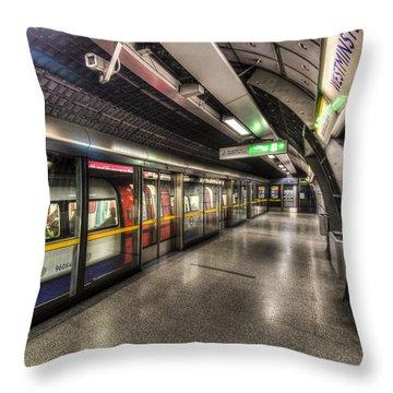 London Underground Throw Pillow by David Pyatt
