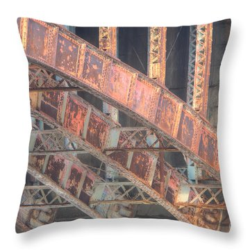 Longfellow Bridge Arches IIi Throw Pillow by Clarence Holmes