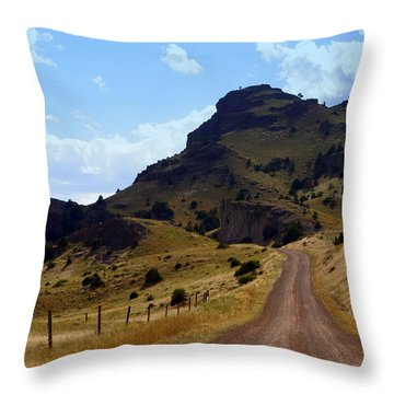 Lonly Road Throw Pillow by Marty Koch