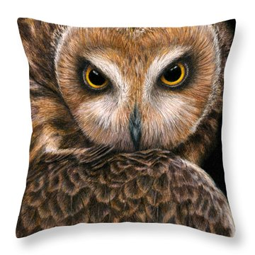 Look Into My Eyes Throw Pillow by Pat Erickson