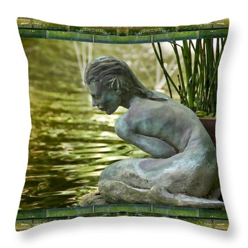 Looking In Throw Pillow by Bell And Todd