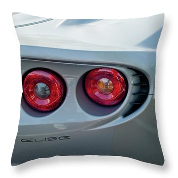 Lotus Elise Taillight Throw Pillow by Jill Reger