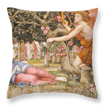 Love And The Maiden Throw Pillow by JRS Stanhope