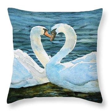 Love Forever Throw Pillow by Marisa Gabetta