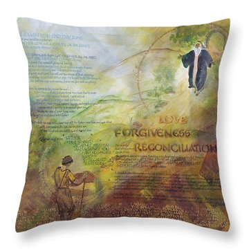 Love Forgiveness Reconciliation Throw Pillow by Judy Dodds