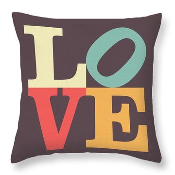 Love In Vintage Throw Pillow by Taylan Soyturk