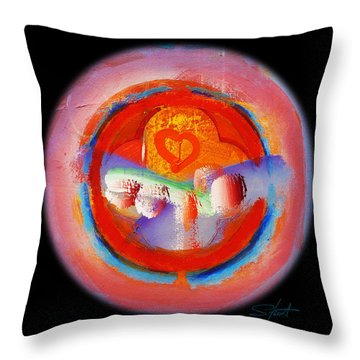 Love Me Or Leave Me Throw Pillow by Charles Stuart