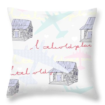 Love Shack Throw Pillow by Beth Travers