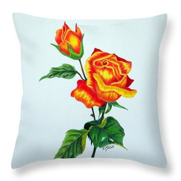 Lovely Rose Throw Pillow by Terri Mills