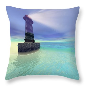 Low Fog Throw Pillow by Corey Ford
