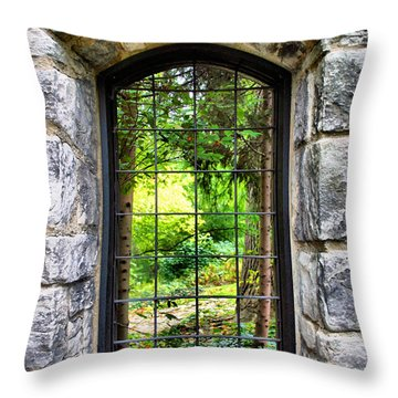 Lushness Beyond The Walls Throw Pillow by Kristin Elmquist