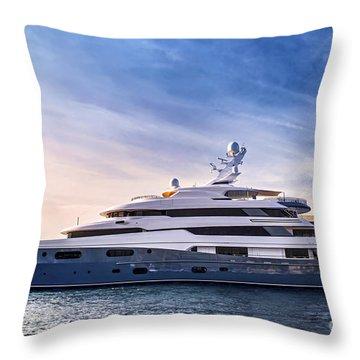 Luxury Yacht Throw Pillow by Elena Elisseeva