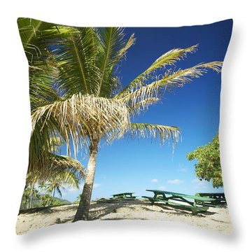 Lydgate Beach On Kauai Throw Pillow by Kicka Witte - Printscapes