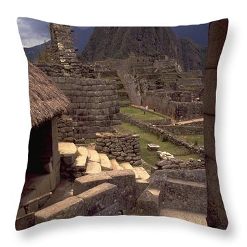 Throw Pillow featuring the photograph Machu Picchu by Travel Pics