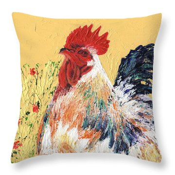 Mad Max With Poppies Throw Pillow by Laura Gabel