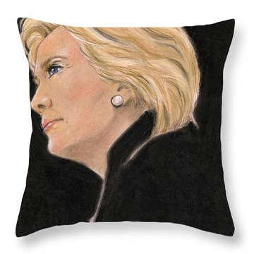 Madame President Throw Pillow by P J Lewis