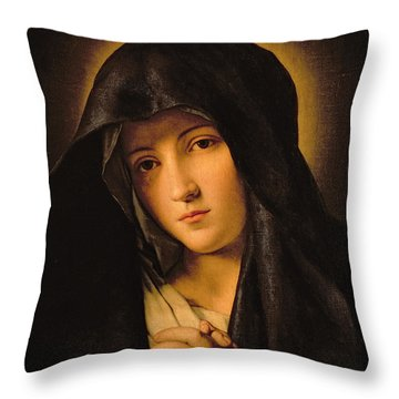 Madonna Throw Pillow by Il Sassoferrato