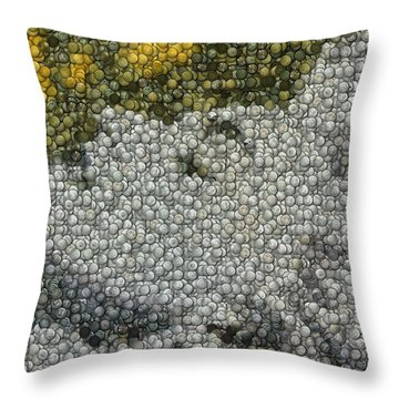 Madonna True Blue Material Girl Coins Mosaic Throw Pillow by Paul Van Scott