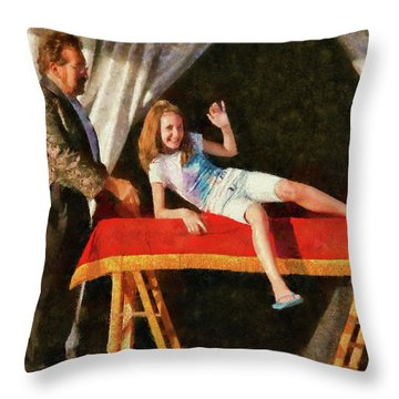 Magic - Can I Have A Volunteer  Throw Pillow by Mike Savad