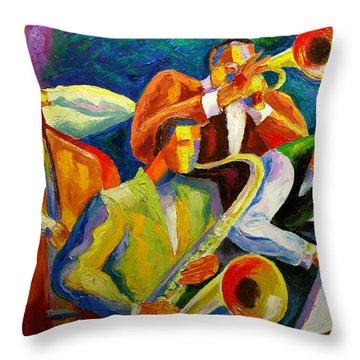 Magic Music Throw Pillow by Leon Zernitsky