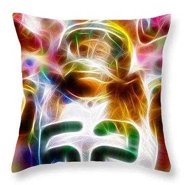 Magical Clay Matthews Throw Pillow by Paul Van Scott