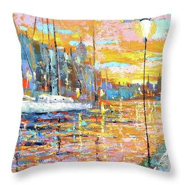 Magical Sunset Throw Pillow by Dmitry Spiros