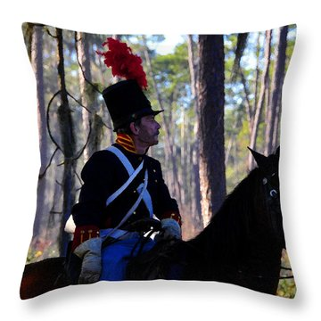 Major Francis L. Dade 1835 Throw Pillow by David Lee Thompson