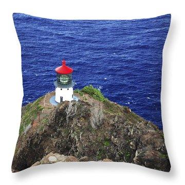 Makapuu Lighthouse II Throw Pillow by Brandon Tabiolo - Printscapes