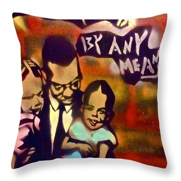 Malcolm X Fatherhood 2 Throw Pillow by Tony B Conscious