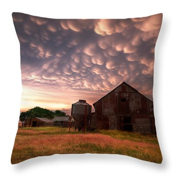 Mammatus Kansas Throw Pillow by Thomas Zimmerman