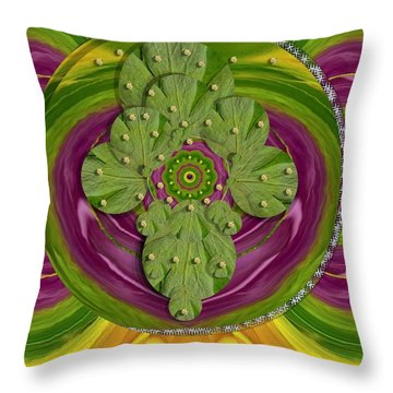 Mandala Art Throw Pillow by Pepita Selles