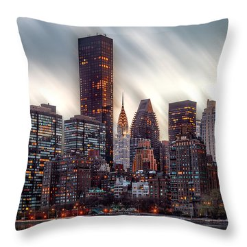 Manhattan Daze Throw Pillow by Az Jackson