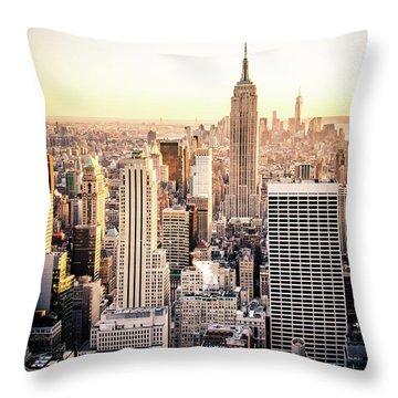 Manhattan Throw Pillow by Michael Weber