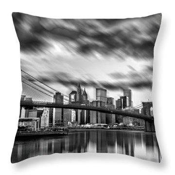 Manhattan Moods Throw Pillow by Az Jackson
