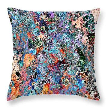 Throw Pillow featuring the painting Many Colors by Frank Tschakert