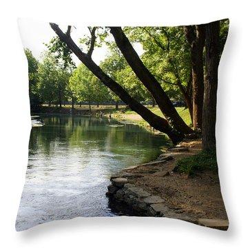 Maramec Springs 5 Throw Pillow by Marty Koch