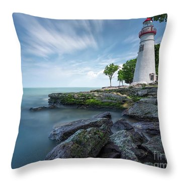 Marblehead Breeze Throw Pillow by James Dean