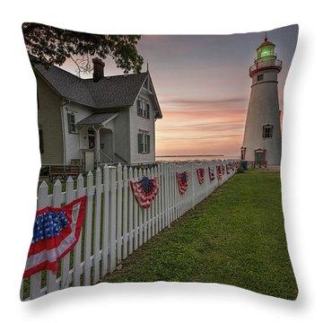 Marblehead Memorial  Throw Pillow by James Dean