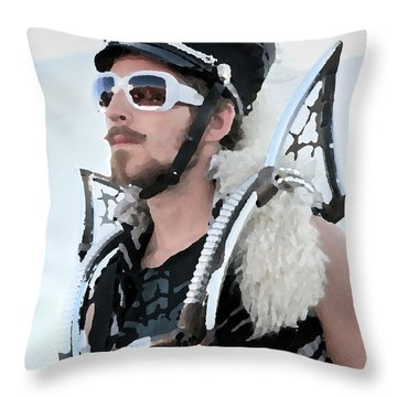 March Fourth Marching Band Throw Pillow by Chris Dutton