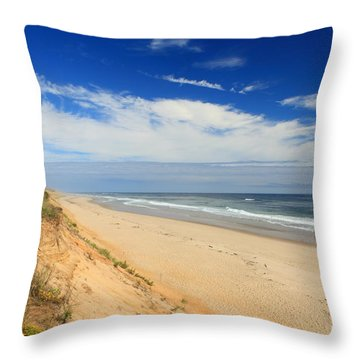 Marconi Beach Cape Cod National Seashore Throw Pillow by John Burk