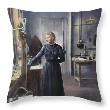 Marie Curie (1867-1934) Throw Pillow by Granger